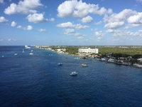 View of Cozumel from Oasis, 17th floor Crown Loft suite (L1-1756).