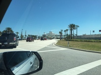 Arriving at Port Canaveral to board Oasis (in the background).