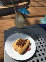 Embarkation Lunch 4/1 provided on the Lido Deck