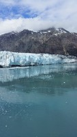 Glacier ready to Calve !  We waited... and waited... and it actually happen