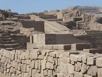 Pachacamac ruins dating back to 300 AD. Lima, Peru