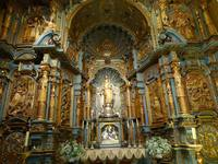 One of the many chapels inside Basilica Cathedral of Lima.  Lima, Peru