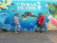 Cayman water front mural.