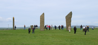 "Stones of Stenness, oldest ""stone hedge"" in the world on Orkney Isl"