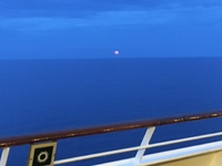 Moon over the Caribbean