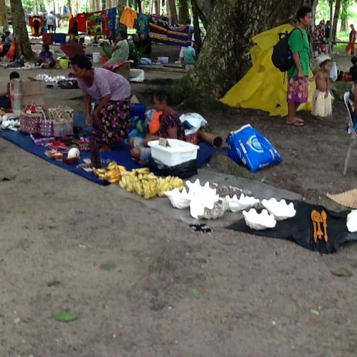 Local wares for sale on Doini Island