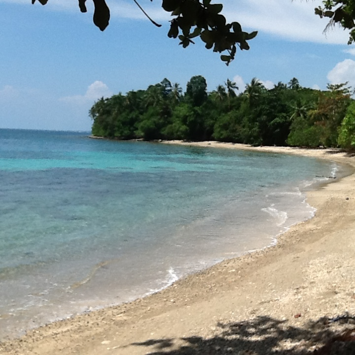 Turtle Beach, A 40 mins drive West from Honiara Port, and an oasis shared w