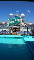 Carnival Triumph mid deck pool and waterslide