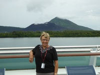 Looking towards the volcano in Rabaul