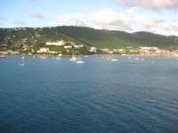 The beautiful view from the ship of almost any Carribbean island you sail b