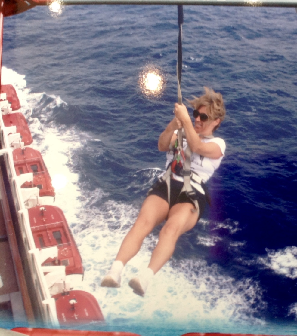 Zipline off the ship