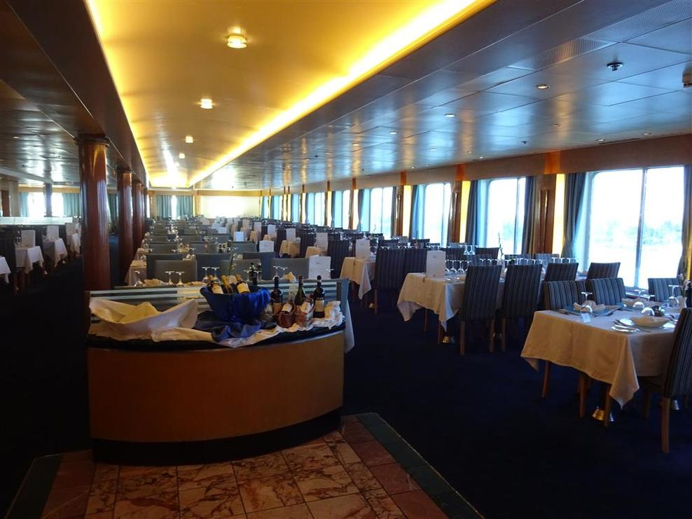 Amalthia Restaurant.  One of two main dining rooms on Decks 5 and 8.