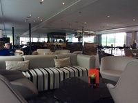 A view of the lounge onboard, when it was quiet!  Such a lovely place to si