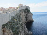 Walking the walls in Dubrovnik, Croatia