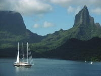 Morea Island, French Polynesia - photo taken from deck of Radiance of the S