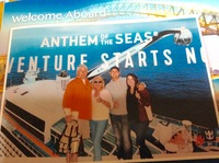 Boarding Anthem of the Seas in New Jersey