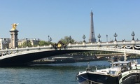 Paris, Eiffel Tower and Pont Alexander III