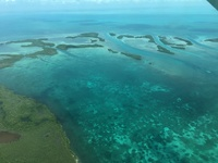 Flying from Belize City to San Pedro.