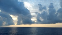 Sunset on the Atlantic from our room