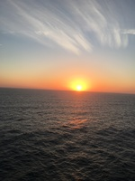 Lots of days at sea, which is what I wanted, many beautiful sunsets.