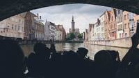 Picture taken from the boat on the canal in Bruges