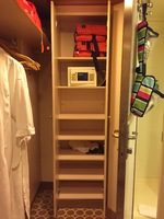 This is the tall cabinet that was near our closet and bathroom. Very useful