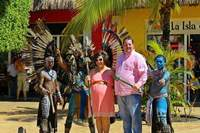 "In the ""Safe Zone"" in Cozumel. These Mayan performers were awesome!"