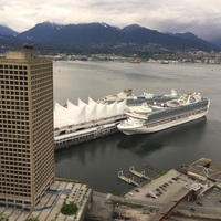 Coral Princess (far ship) and Ruby Princess, Canada Place