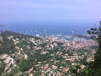 View of Monaco from La Tourbie above.  You could hear the engines. Because
