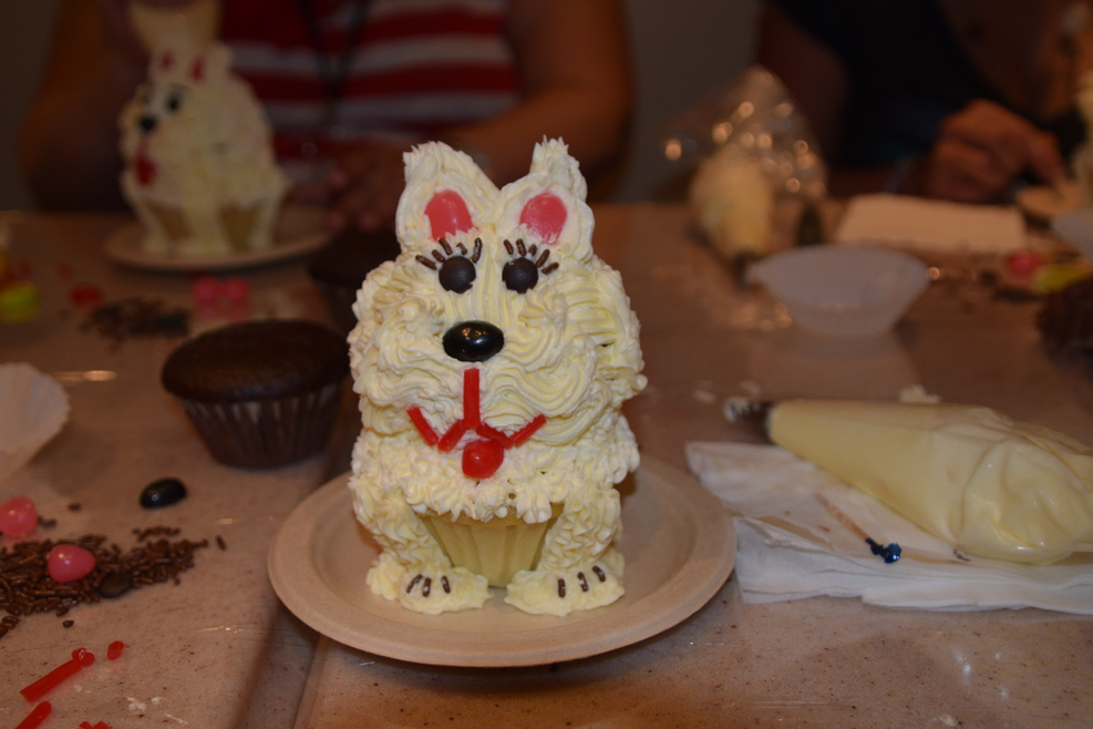 Created at the cupcake decorating class