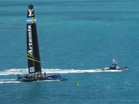 America's Cup practice near the ship