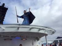 """King Norse""at the ceremony for Crossing the Arctic Circle."