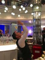 Martini Bar - Bartender putting on a show.
