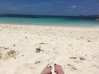 NASSAU:  soft white sand at Saunders Beach - we had it all to ourselves!