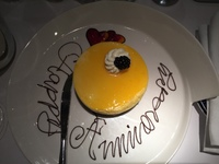 Passion fruit sponge cake in our cabin.  A wedding anniversary SURPRISE lef
