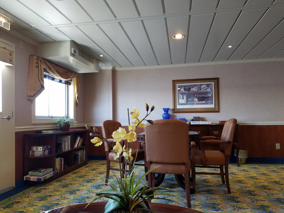 One of several lounges on the ship.