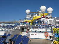 The new water slides on the Carnival Glory, fast & fun!