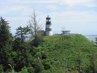 Lighthouse, Cape Disappointment, Oregon Pacific coast end of Lewis and Clar