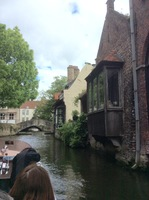 On canal cruise in Bruges.
