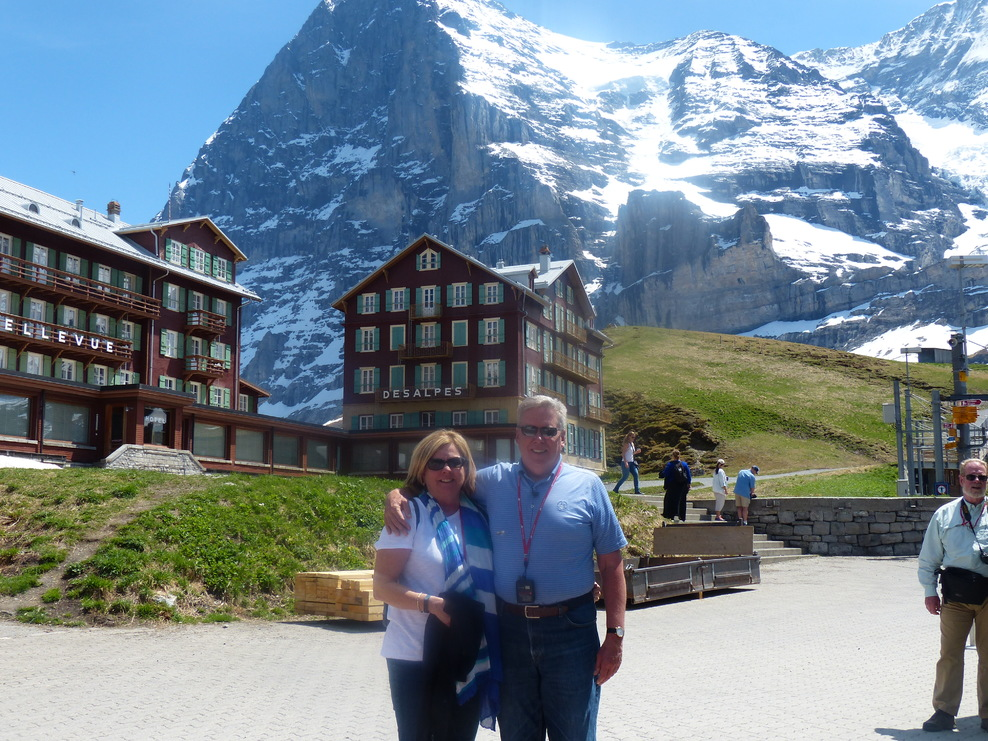 An amazing day in the Swiss Alps.