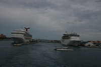 Leaving Nassau harbor.