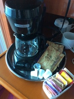 Coffee maker in cabin