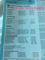 Port Day Dining options