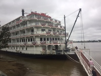 Boat docked in Baton Rouge