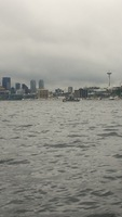 On the Duck Tour in Seattle. The boat part of the tour put us into Union La