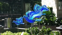 Glass sculpture in Central Park