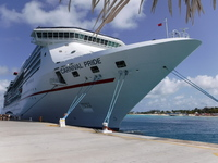 The ship at Grand Turk pier