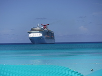 The ship from Half Moon Cay