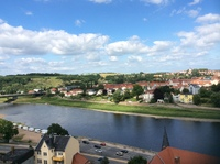 Beautiful vista of the Elbe.