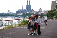 Wife, her brother and sister-in-law in Cologne, Germany